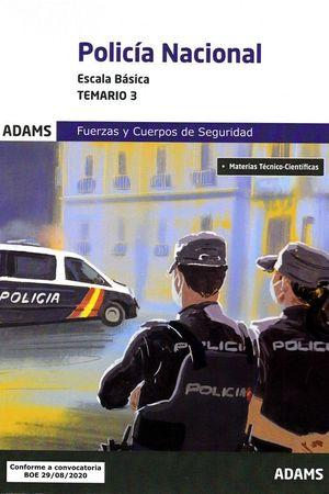 TEMARIO 3 POLICIA NACIONAL ESCALA BASICA