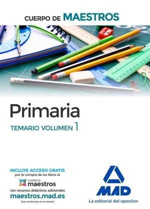 PRIMARIA TEMARIO VOLUMEN 1 (2016) CUERPO MAESTROS