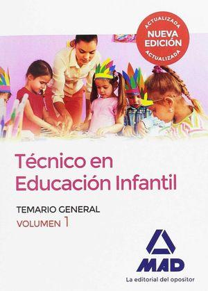 TECNICO EN EDUCACION INFANTIL. VOLUMEN 1