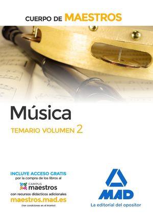 MUSICA TEMARIO VOLUMEN 2 (2017) CUERPO MAESTROS
