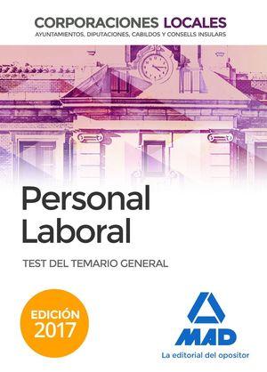 PERSONAL LABORAL TEST (2017) CORPORACIONES LOCALES
