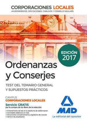 ORDENANZAS Y CONSERJES TEST Y SUPUESTOS CORPORACIONES LOCALES