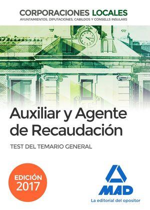 AUXILIAR Y AGENTE RECAUDACION TEST 2017 CORPORACIONES LOCALES