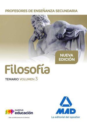 FILOSOFÍA TEMARIO VOLUMEN 3