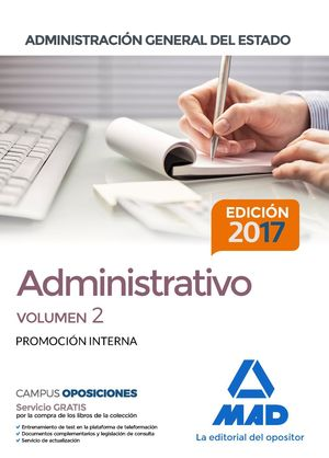 ADMINISTRATIVO DE LA ADMINISTRACIÓN GENERAL DEL ESTADO (PROMOCIÓN INTERNA)