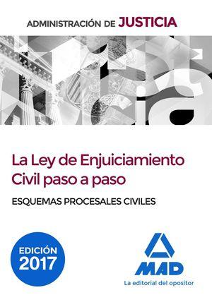 LA LEY ENJUICIAMIENTO CIVIL PASO A PASO ESQUEMAS PROCESALES CIVILES (2017)