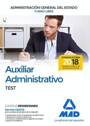 AUXILIAR ADMINISTRATIVO DEL ESTADO TEST 2018 TURNO LIBRE