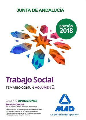 TRABAJADOR SOCIAL  DE LA JUNTA DE ANDALUCÍA. TEMARIO COMÚN VOLUMEN 2