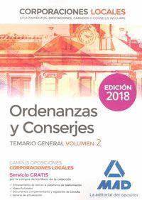 ORDENANZAS Y CONSERJES VOL 2 TEMARIO GENERAL CORPORACIONES LOCALES