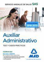 AUXILIAR ADMINISTRATIVO TEST Y CASOS PRÁCTICOS (2018) SAS