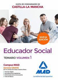 EDUCADOR SOCIAL VOL.1  DE LA JUNTA DE COMUNIDADES DE CASTILLA LA MANCHA (TEMARIO ESPECIFICO)