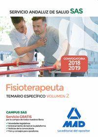 FISIOTERAPEUTA DEL SERVICIO ANDALUZ DE SALUD. TEMARIO ESPECÍFICO VOLUMEN 2