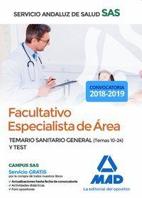 FACULTATIVO ESPECIALISTA DE ÁREA DEL SERVICIO ANDALUZ DE SALUD. TEMARIO SANITARI