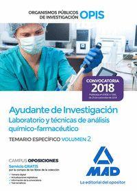 AYUDANTE DE INVESTIGACIÓN TEMARIO ESPECIFICO 2 2018 (OPIS)