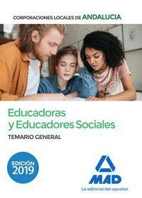 EDUCADORAS Y EDUCADORES SOCIALES DE CORPORACIONES LOCALES DE ANDALUCÍA. TEMARIO