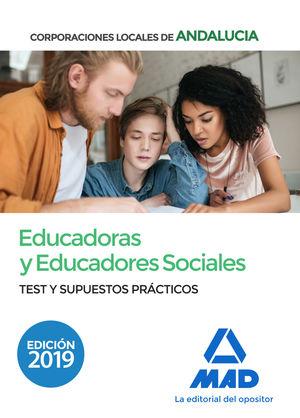 EDUCADORAS Y EDUCADORES SOCIALES DE CORPORACIONES LOCALES DE ANDALUCÍA. TEST Y S