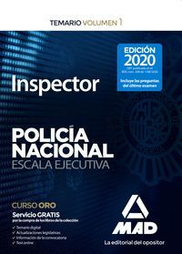 TEMARIO INSPECTOR DE POLICÍA NACIONAL VOLUMEN 1