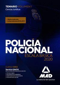 POLICÍA NACIONAL ESCALA BÁSICA TEMARIO 1 2020 CIENCIAS JURÍDICAS