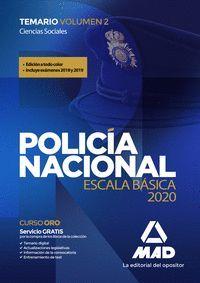 POLICÍA NACIONAL ESCALA BÁSICA TEMARIO 2 2020 CIENCIAS SOCIALES