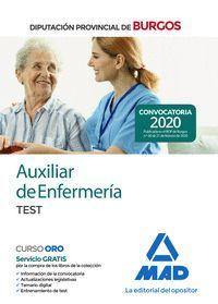 AUXILIAR DE ENFERMERÍA DE LA DIPUTACIÓN PROVINCIAL DE BURGOS. TEST