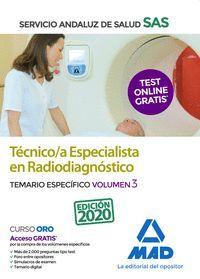 TEMARIO ESPECIFICO 3 TECNICO ESPECIALISTA RADIODIAGNOSTICO