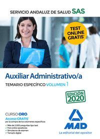 TEMARIO 1 ESPECIFICO AUXILIAR ADMINISTRATIVO/A SAS 2020