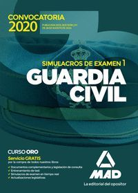 GUARDIA CIVIL SIMULACROS DE EXAMEN VOL 1 2020
