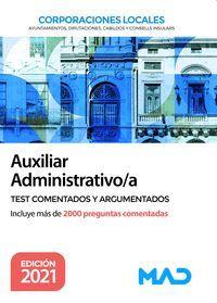 AUXILIAR ADMINISTRATIVO/A TEST COMENTADOS Y ARGUMENTADOS