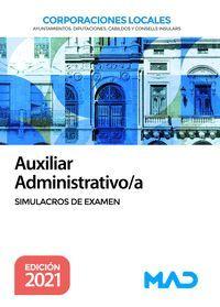 AUXILIAR ADMINISTRATIVO/A SIMULACROS DE EXAMEN 202 CORPORACIONES LOCALES