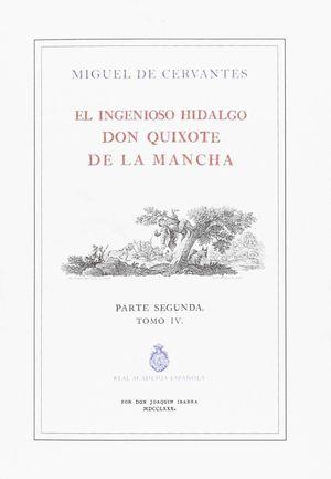 EL INGENIOSO HIDFALGO DON QUIXOTE DE LA MANCHA