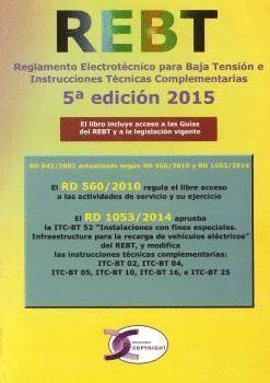 REGLAMENTO ELECTROTECNICO DE BAJA TENSION REBT 5ªED