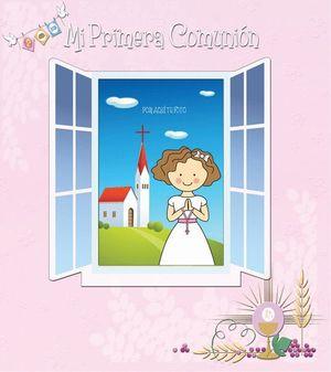 MI PRIMERA COMUNION LIBRO + PORTAFOTO (NIÑA)