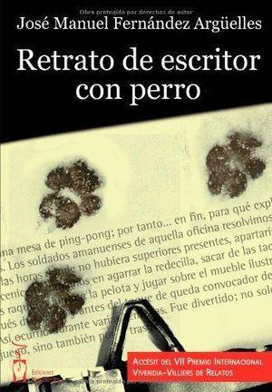 RETRATO DE ESCRITOR CON PERRO