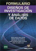 FORMULARIO DE DISEÑOS DE INVESTIGACION Y ANALISIS DE DATOS