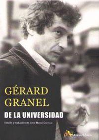 DE LA UNIVERSIDAD (EDICION Y TRADUCCION DE JORDI MASSO CASTILLA)