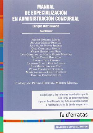 MANUAL DE ESPECIALIZACIÓN EN ADMINISTRACIÓN CONCURSAL