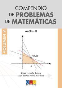 COMPENDIO DE PROBLEMAS DE MATEMATICAS VOLUMEN V