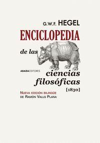 ENCICLOPEDIA DE LAS CIENCIAS FILOSOFICAS (1830)