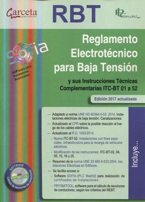 RBT REGLAMENTO ELECTROTECNICO PARA BAJA TENSION (ED. 2017)