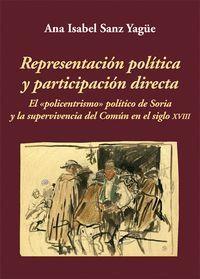 REPRESENTACIÓN POLÍTICA Y PARTICIPACIÓN DIRECTA