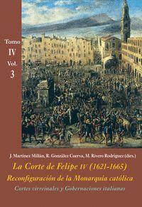 LA CORTE DE FELIPE IV (1621-1665). RECONFIGURACIÓN DE LA MONARQUÍA CATÓLICA TOMO IV VOL.3