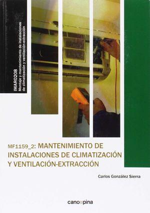 MANTENIMIENTO DE INSTALACIONES DE CLIMATIZACIÓN Y VENTILACIÓN-EXTRACCIÓN MF1159