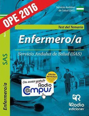 ENFERMERO/A DEL SAS. TEST DEL TEMARIO ESPECIFICO