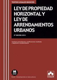 LEY PROPIEDAD HORIZONTAL (2018) Y LEY DE ARRENDAMIENTOS URBANOS