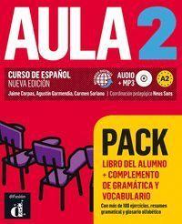 AULA 2 PACK LIBRO + COMPLEMENTO DE GRAMÁTICA Y VOCABULARIO