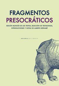 FRAGMENTOS PRESOCRATICOS
