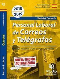 PERSONAL LABORAL DE CORREOS Y TELEGRAFOS TEST DEL TEMARIO 2018/2019