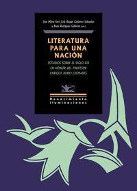 LITERATURA PARA UNA NACIÓN