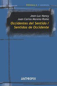OCCIDENTES DEL SENTIDO / SENTIDOS DE OCCIDENTE