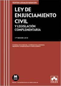 LEY DE ENJUICIAMIENTO CIVIL Y LEGISLACIÓN COMPLEMENTARIA 2019